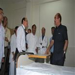 Minister of Health And F W  visiting inside the Private Ward
